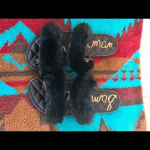 Sam Edelman Fur Sandals